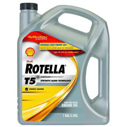 Shell Rotella T5 10W-30  Synthetic Blend Motor Oil, 1 gal.