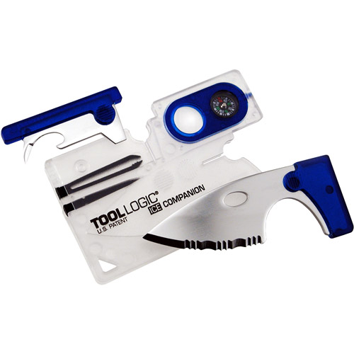 Tool Logic ICE Companion with Lens/Compass, Clear/Blue