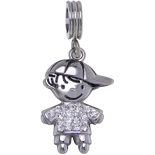 Connections from Hallmark Stainless-Steel Crystal Birthstone Boy Charm