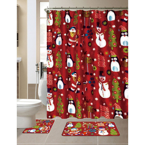 Christmas Shower Curtains Walmart Bathroom Window Curtai
