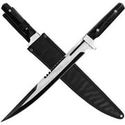 "Whetstone 18"" Huge Stainless Steel Survival Knife, Silver"