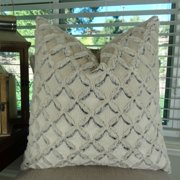 Thomas Collection Light Weight Ivory Beige Double Sided Throw Pillow - 17433