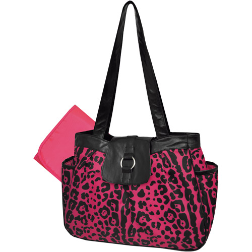 Tender Kisses Cheetah Diaper Bag, Pink