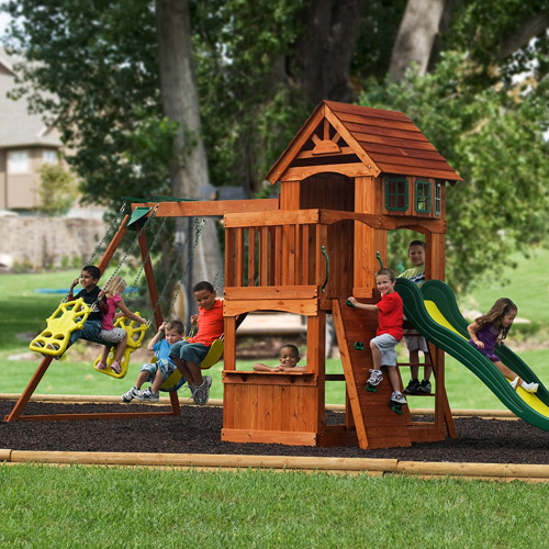 Adventure Play Sets Atlantis Cedar Wooden Swing Set