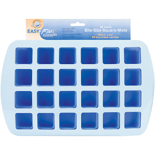"Wilton Easy Flex 1.5""x1.75"" Bite Size Silicone Mold, Square 2105-4890"