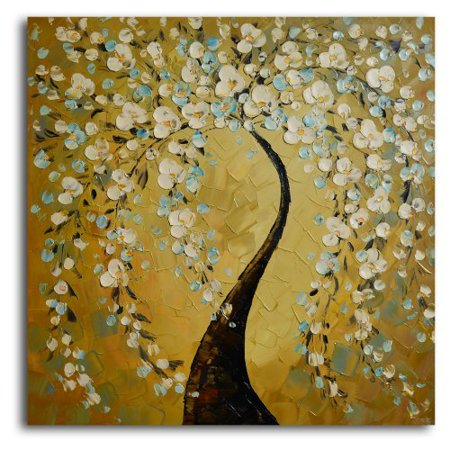 Shimmering Bow Oil Painted Wall Art