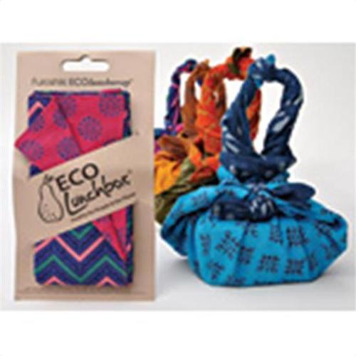ECO Lunchboxes Furoshiki Lunch Bags Napkins ECO Lunch Wrap 24 x 24 Fair Trade Artisan Cotton Assorted Designs 224543