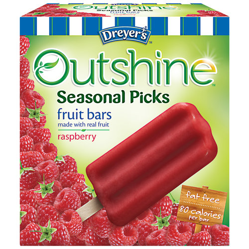 Dreyer???s Outshine Seasonal Picks Raspberry Fruit Bars, 6 count, 16.1 fl oz