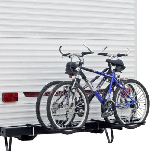 RV or Camper Trailer Bumper Bike Rack for 1-2 Bicycles