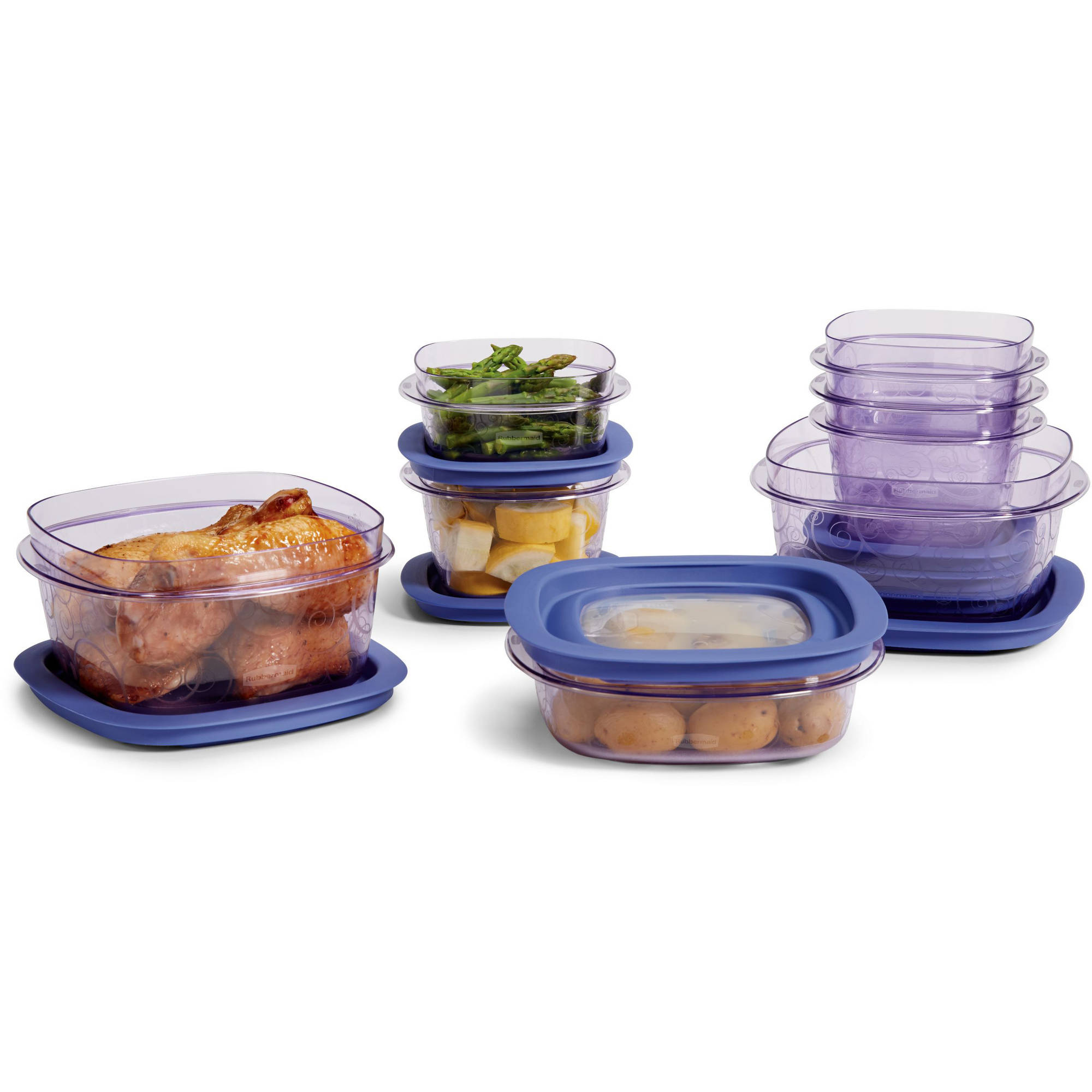 Rubbermaid Premier 16-Piece Set, Purple