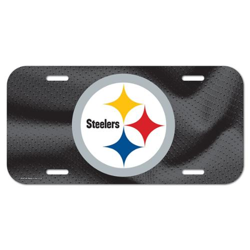 Pittsburgh Steelers Official NFL 12 inch x 6 inch  Plastic License Plate by Wincraft