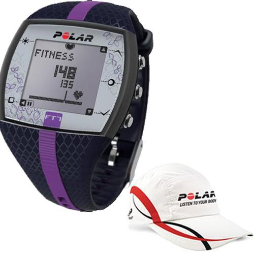 Polar FT7F 90048735 Heart Rate Monitor with Polar Race Hat- Blue Lilac