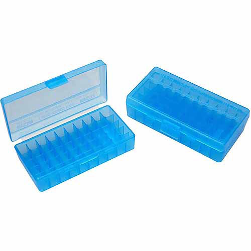 MTM P50 Flip Top, 9MM, 50-Round Ammo Case, Blue
