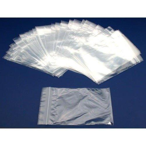 100 Self Sealing, Zipline Brand Bags, Clear 2 mil. Thick Plastic - 6'' X 9''