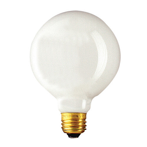 Bulbrite 340040 40G30WH 40-Watt Incandescent G30 Globe;#44; Medium Base;#44; White - Pack Of 12