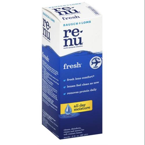 Bausch & Lomb Re-Nu Fresh Multi-Purpose Solution, Fresh 2 oz (Pack of 3)