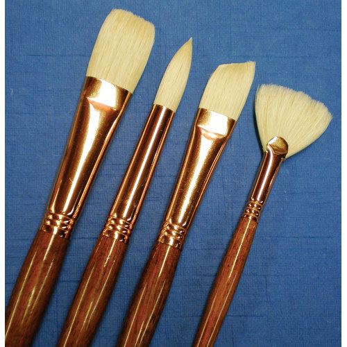 Princeton Artist Brush Natural Bristle Bright Brush (Set of 2)