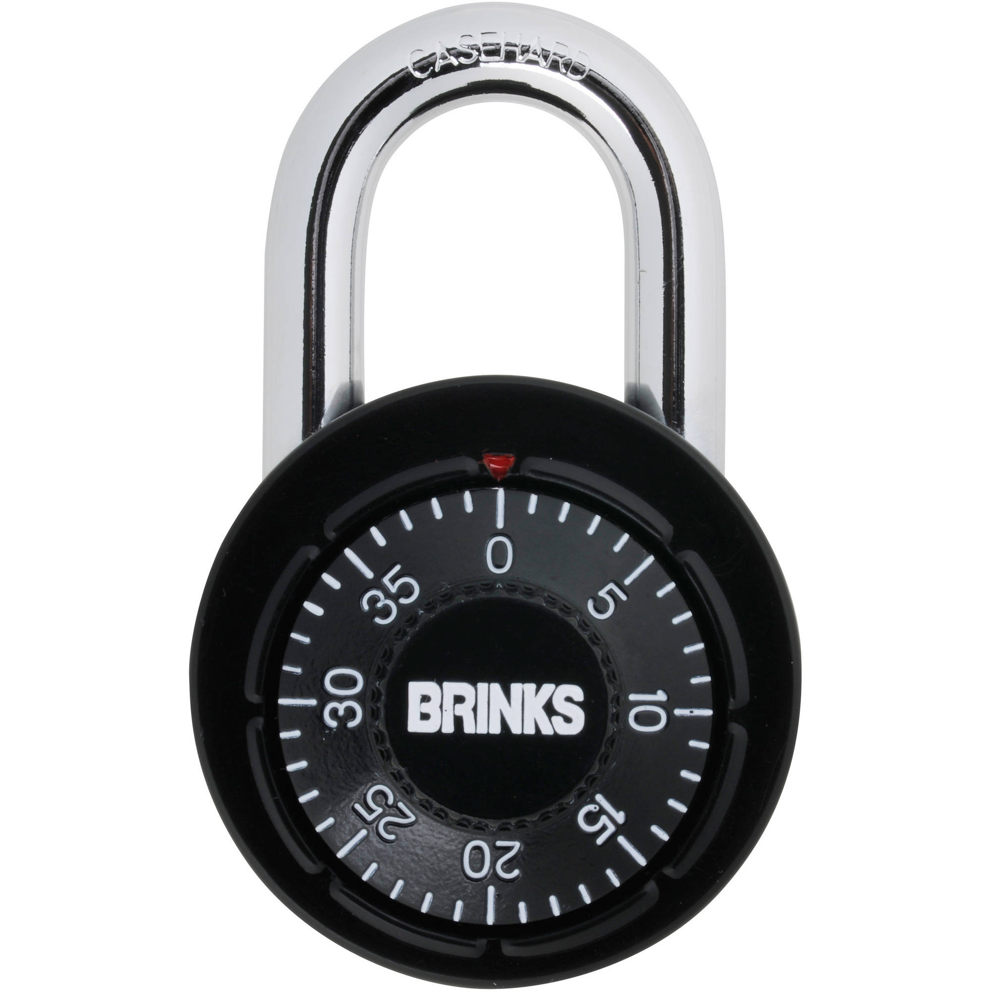 Brinks Dial Combination Locker Padlock, Black