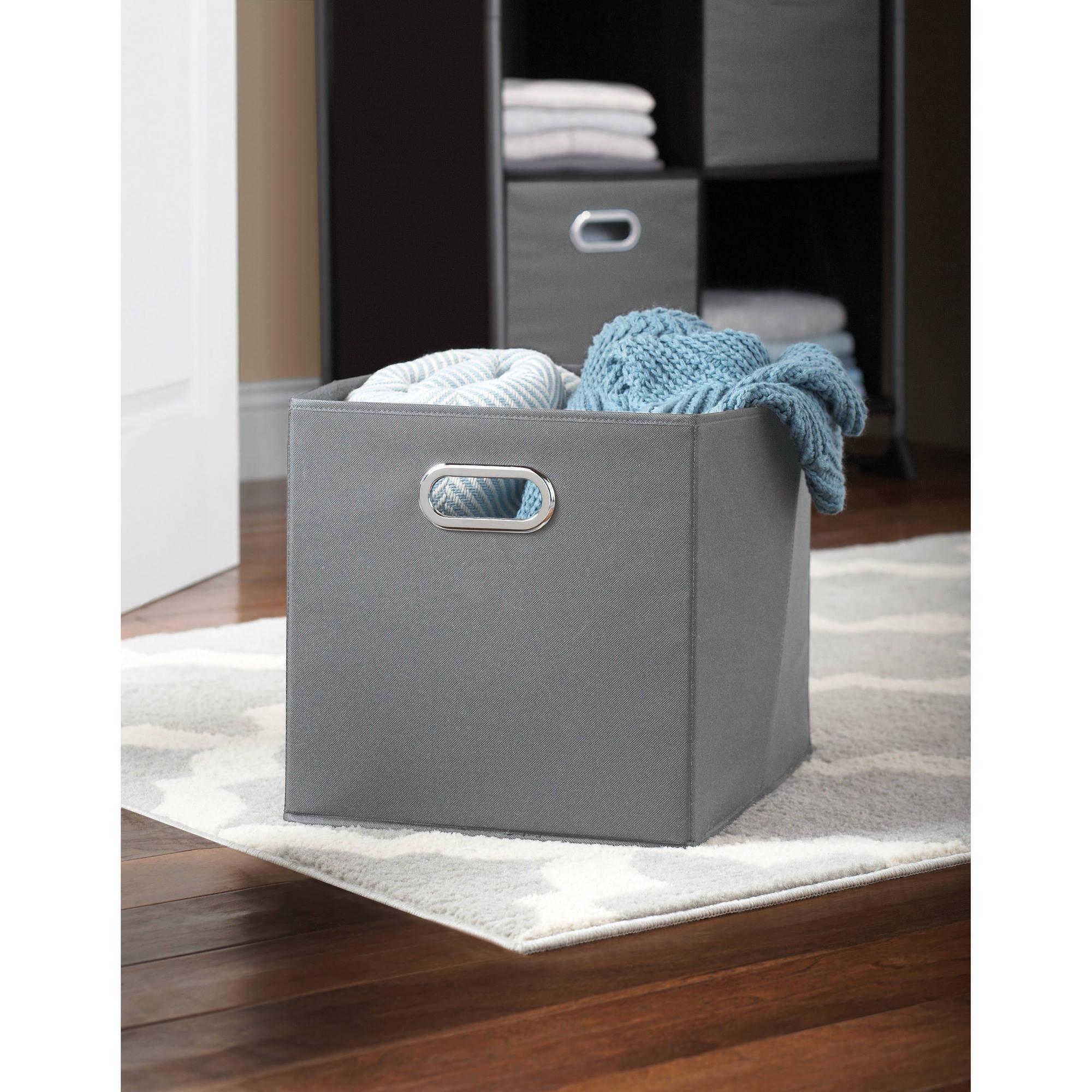 Mainstays Storage Bin, Gray, 2-Pack