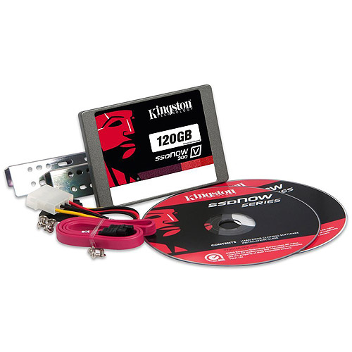 "Kingston Digital 120GB SSDNow V300 2.5"" Solid State Drive Desktop Bundle Kit with Adapter"