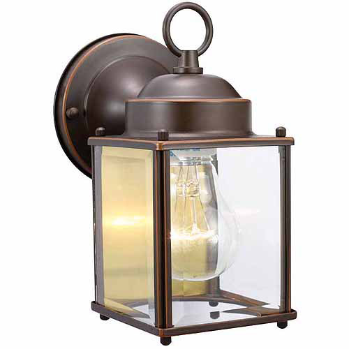 "Design House 506576 Coach Outdoor Downlight, 4.5"" x 8"", Oil Rubbed Bronze Finish"