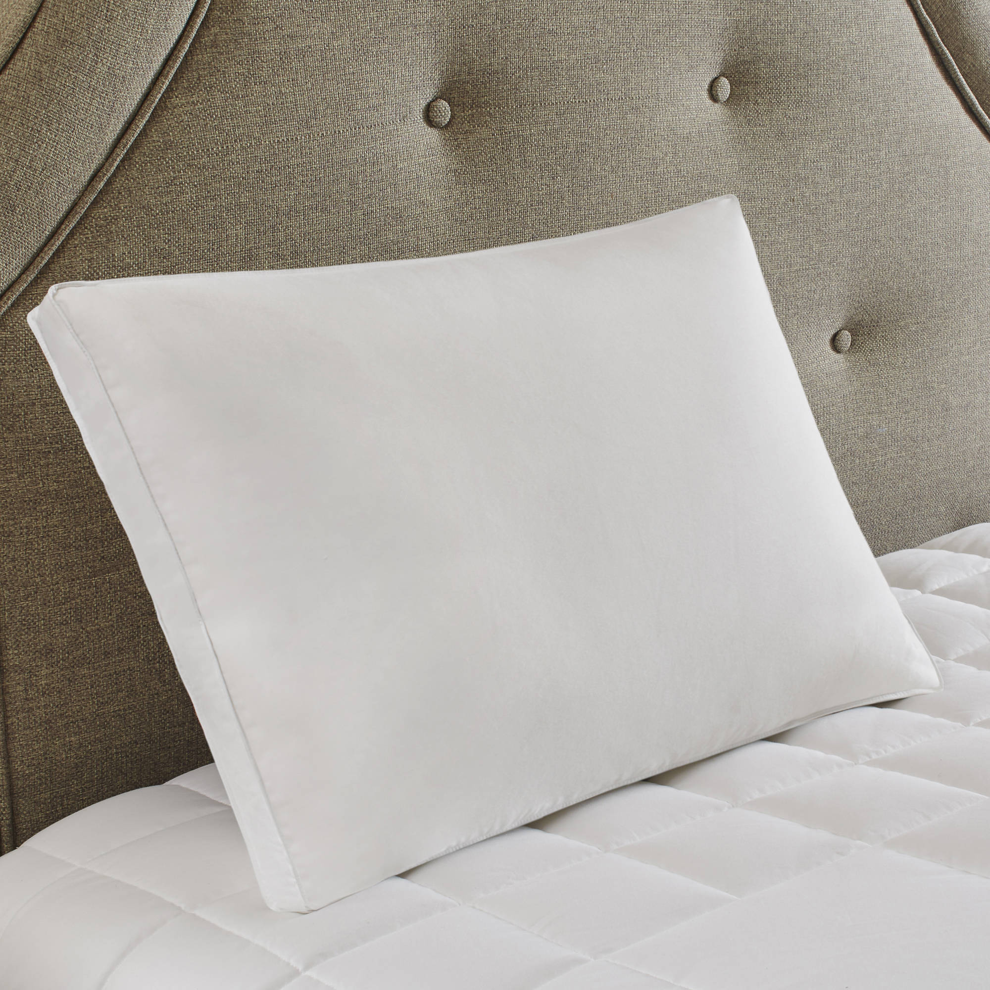 Comfort Classics Medium White Feather and Down Compartment Pillow