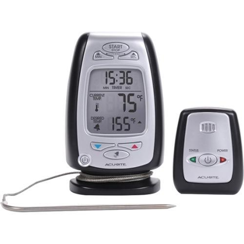 AcuRite Digital Meat Thermometer & Timer with Pager 03168 - Fahrenheit, Celsius