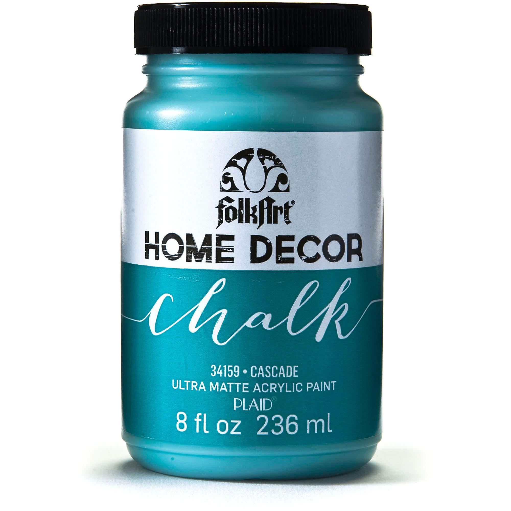 FolkArt   Home Decor Ultra Matte Finish Chalk Acrylic Paint Colors by Plaid - Cascade,   8 oz.