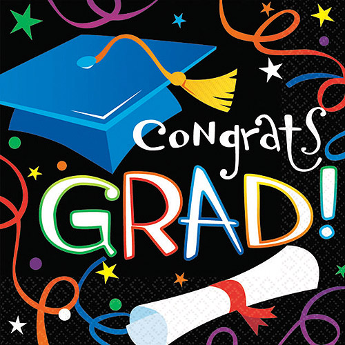 Graduation Luncheon Napkins, 100-Pack
