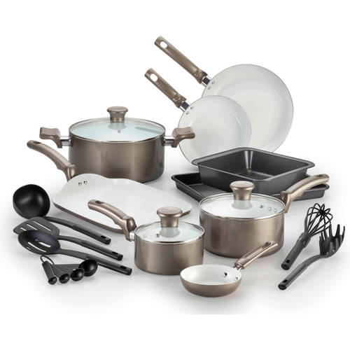 T-fal 18-Pc Ceramic Cookware Set