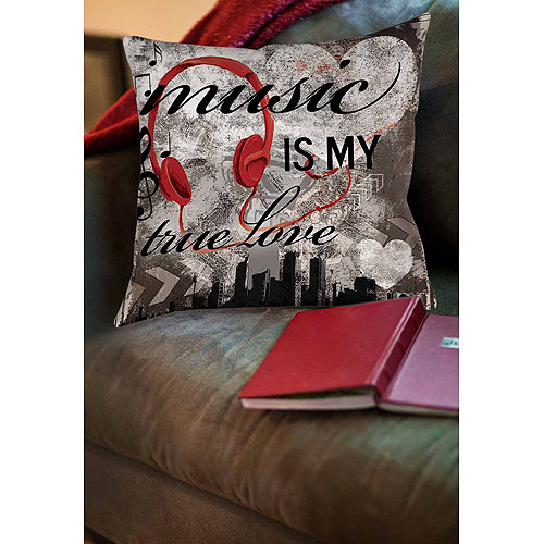 Thumbprintz Music is My True Love Indoor Pillow