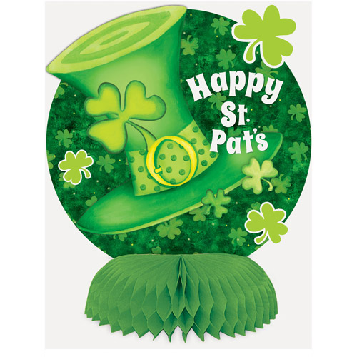 "6"" Mini Honeycomb Saint Patrick's Day Striped Decorations, 4 Count"