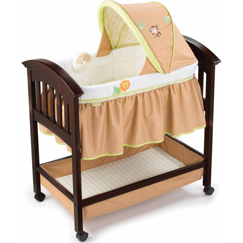 Summer Infant Classic Comfort Wood Bassinet, Swingin Safari