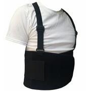 Black Belt Back Support Waist Brace Lift Heavy Weight Comfort (Large / X-Large)