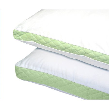 Ultrasoft Quilted Sidewall Bed Pillows, Medium, Set of 2