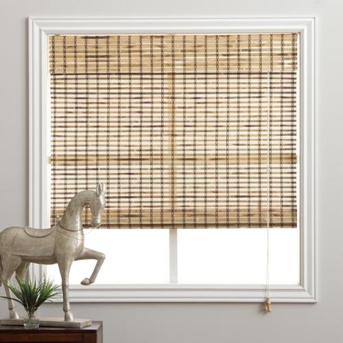 Rustique Bamboo 74-inch Long Roman Shade 16 in. x 74 in.