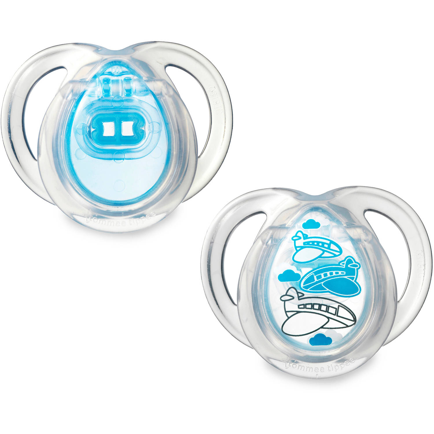 Tommee Tippee Closer to Nature 0-6 Month Everyday Pacifiers, 2pk, Boy
