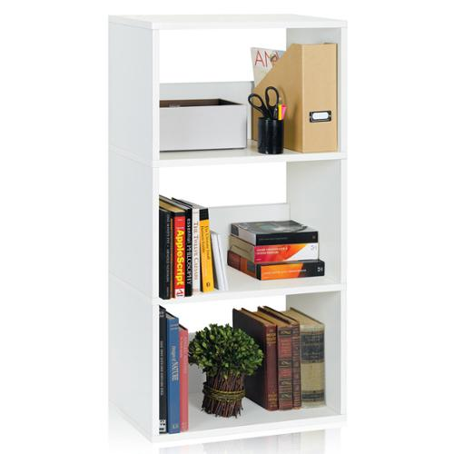 Triplet 3-shelf Modern Eco-friendly zBoard Bookcase Storage Triplet, Espresso