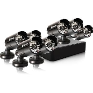 Swann SWDVK-8ALP18-US Swann Compact Security System - 8 Channel Digital Video Recorder & 8 Cameras - Digital Video Recorder, Camera - H.264 Formats - 500 GB Hard Drive - 30 Fps -