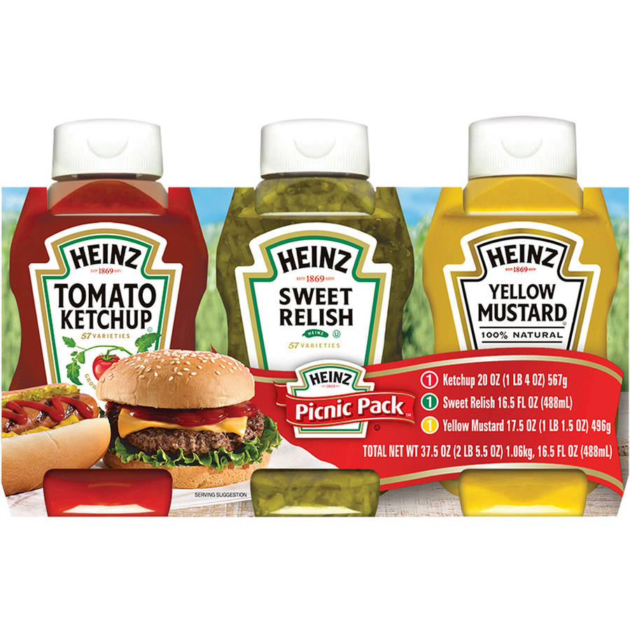 Heinz Picnic Pack Condiment Variety Pack, 54 oz