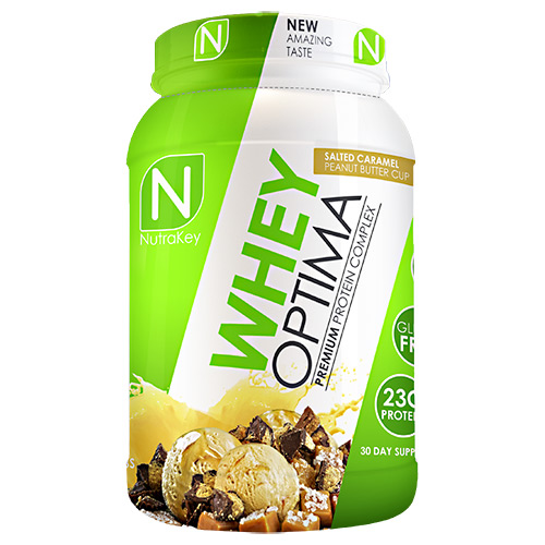 Nutrakey Whey Optima, Salted Caramel Peanut Butter Cup, 30 Servings (2.1 Lbs.)
