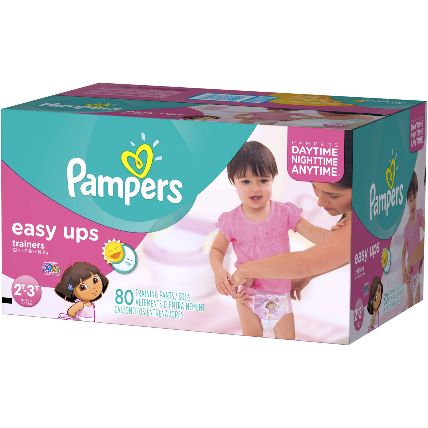 Pampers Easy Ups Girls' Training Pants, Super Pack (Choose Your Size)