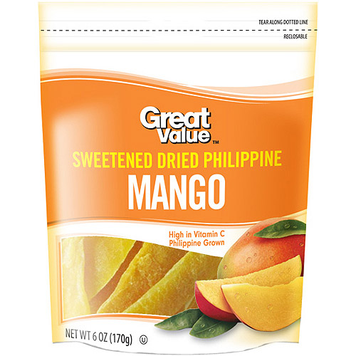 Great Value Sweetened Dried Mango, 6 oz