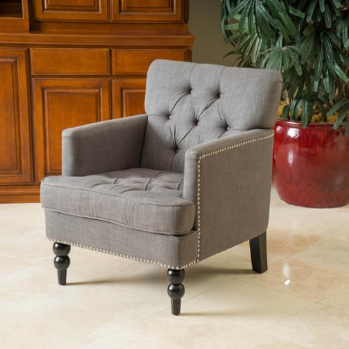 Granada Charcoal Grey Club Chair