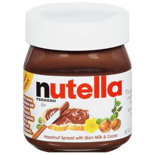 Nutella: Hazelnut With Skim Milk  Cocoa Spread, 13 Oz