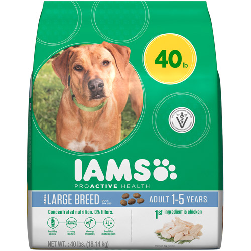 Iams ProActive Health Adult Large Breed Premium Dog Food, 40 lbs