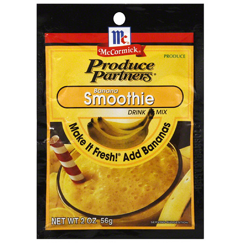 Produce Partners Banana Smoothie Drink Mix, 2 oz (Pack of 12)