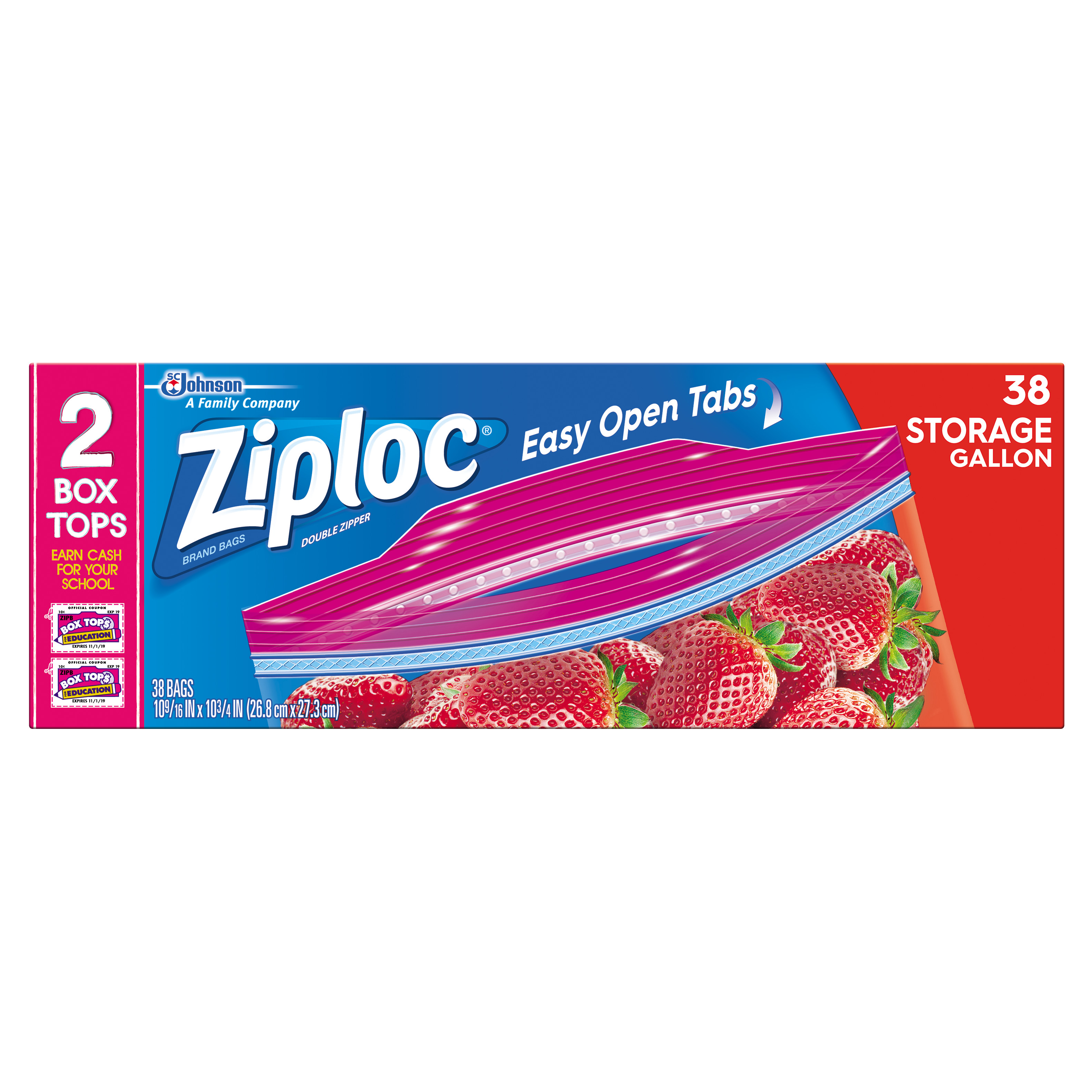 Ziploc Storage Bags Gallon 38 count