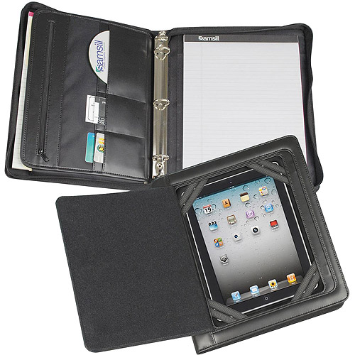 Samsill Zipper Binder with Magnetic Smart Flap for iPad