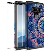 Samsung Galaxy Note 9 Case With 3D PET HD Screen Protector,KAESAR Slim Hybrid Dual Layer Graphic Fashion Colorful Cover Armor Case for Apple Samsung Galaxy Note 9 (Mandala)